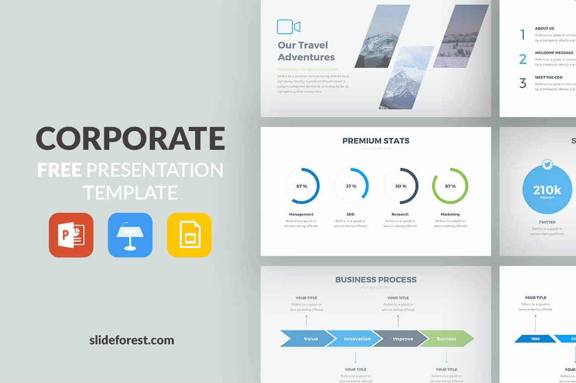 Powerpoint Slide Templates Free Download Lovely 50 Best Free Cool Powerpoint Templates Of 2018 Updated