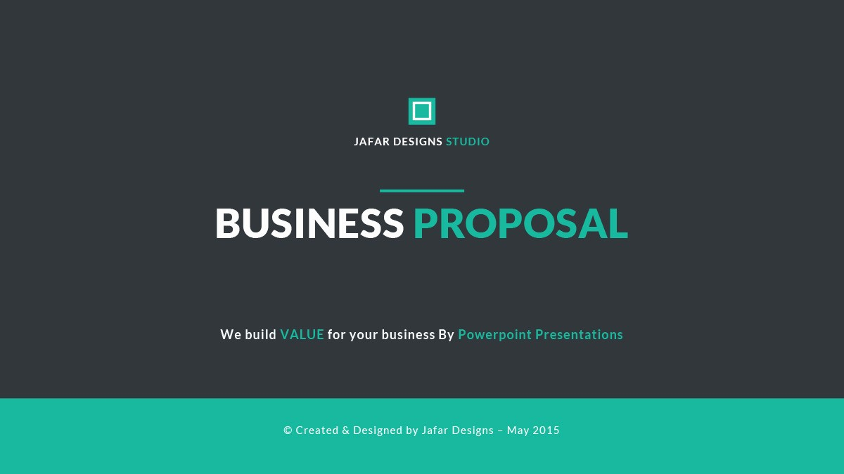 Ppt Template for Business Presentation Best Of Business Proposal Powerpoint Template by Jafardesigns