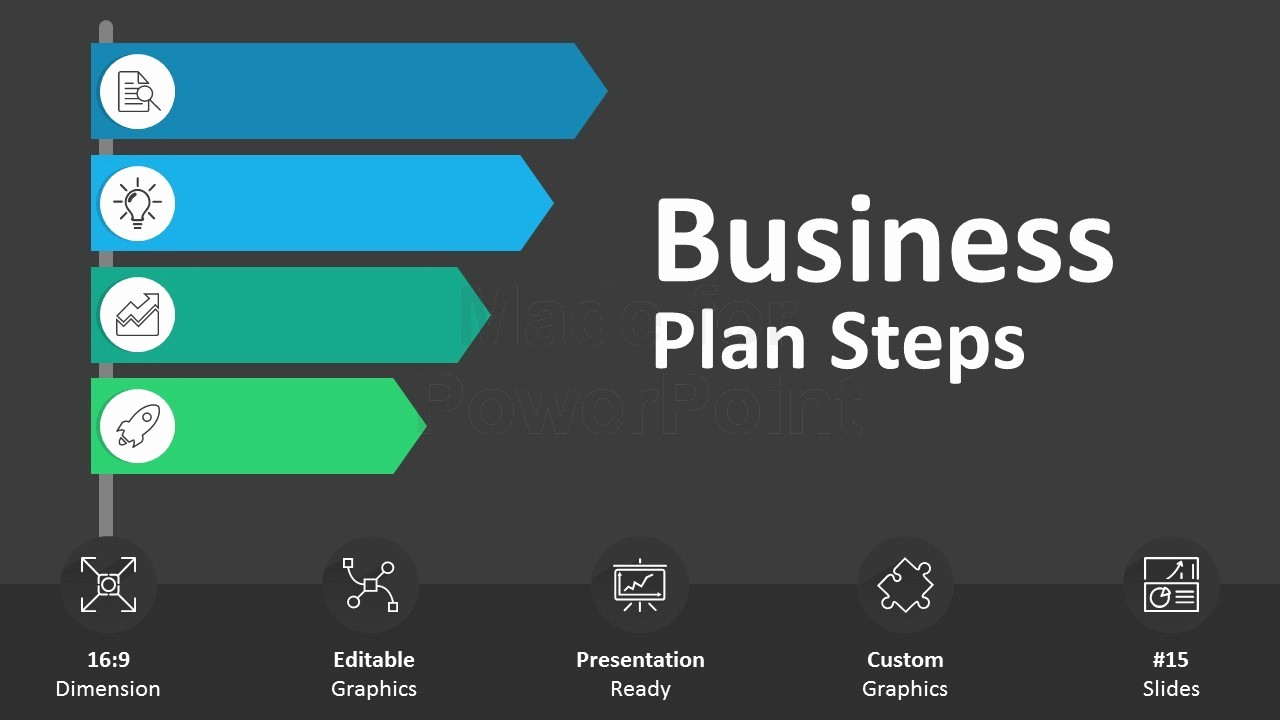 Ppt Template for Business Presentation Fresh Business Plan Steps Editable Powerpoint Slides