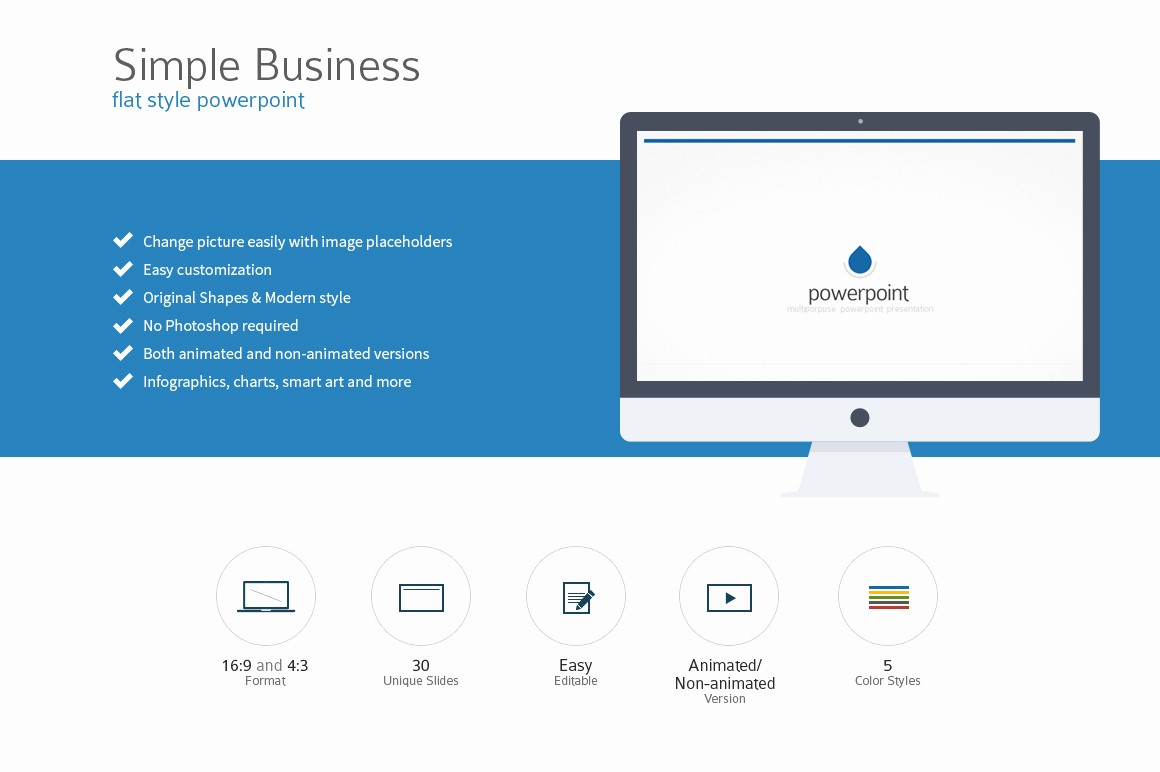 Ppt Template for Business Presentation Lovely Simple Flat Style Powerpoint Presentation Templates On