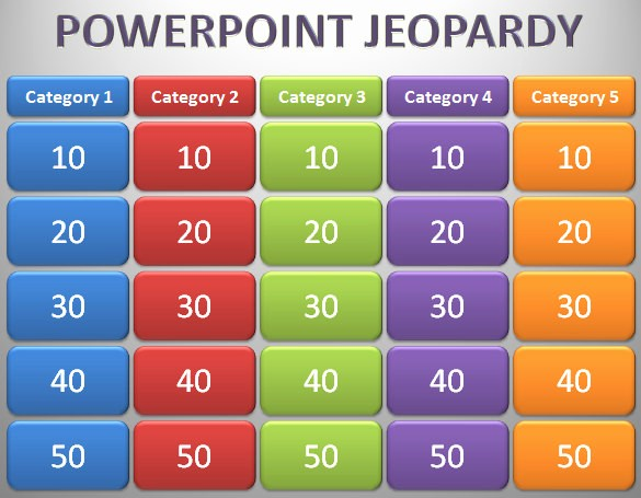 Ppt Template Free Download Microsoft Fresh Jeopardy Powerpoint Template Microsoft Powerpoint