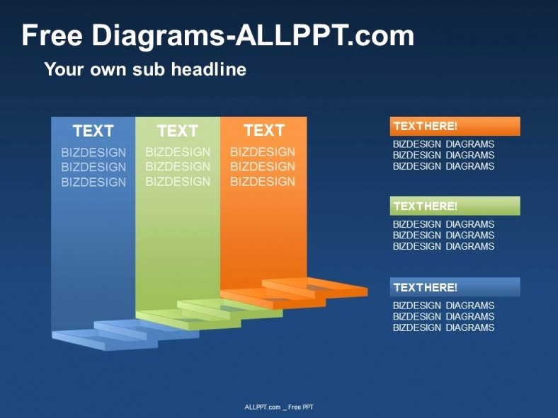Ppt Template Free Download Microsoft Lovely 3d Stair Diagram Ppt Download Free