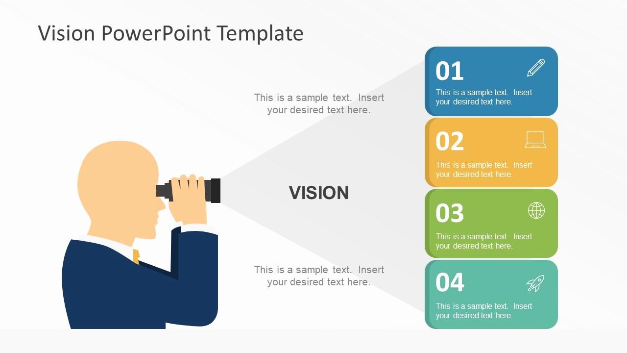 Ppt Templates for Business Presentation Fresh Flat Vision Statement Powerpoint Graphics Slidemodel