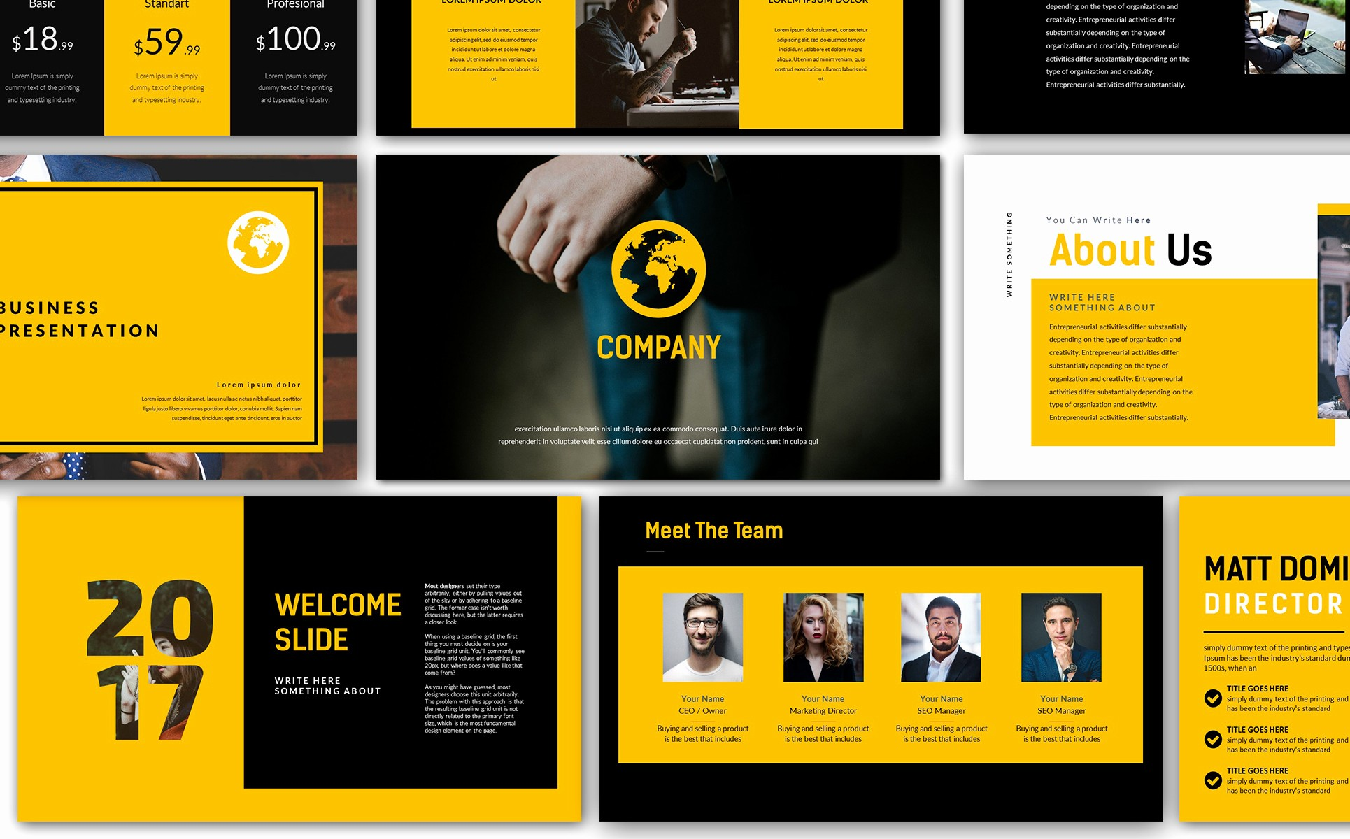 Ppt Templates for Business Presentation Fresh Yellow Pany Business Presentation Powerpoint Template