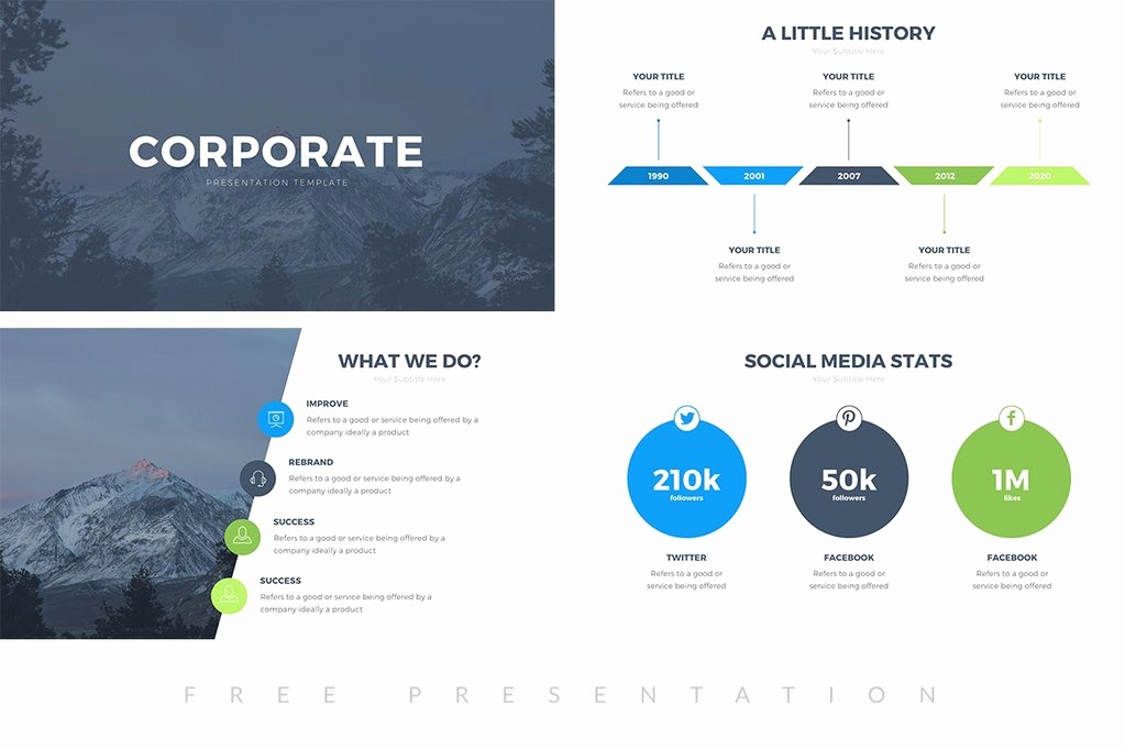 Ppt Templates for Business Presentation Inspirational Corporate Free Presentation Template Presentations