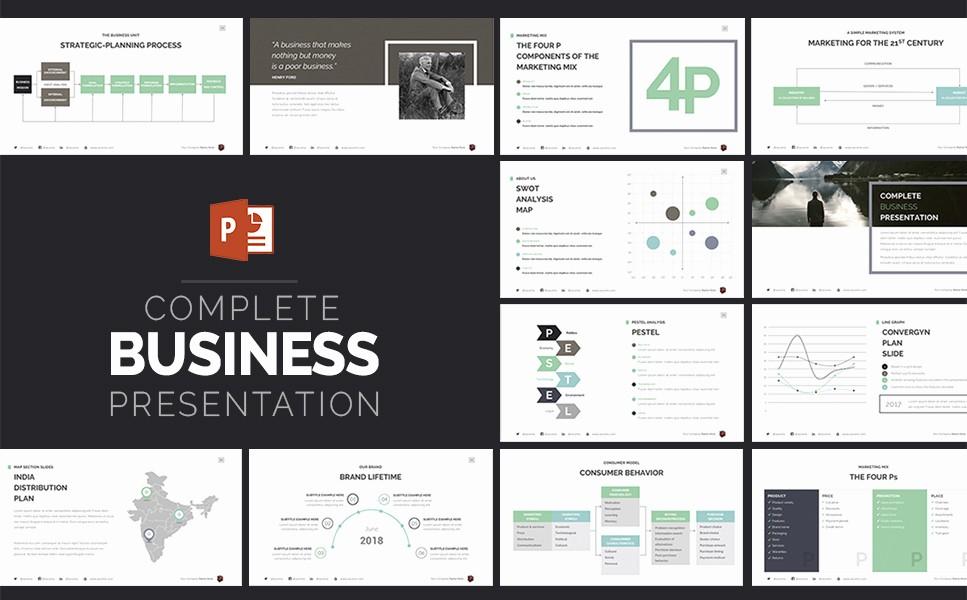 plete business presentation powerpoint template