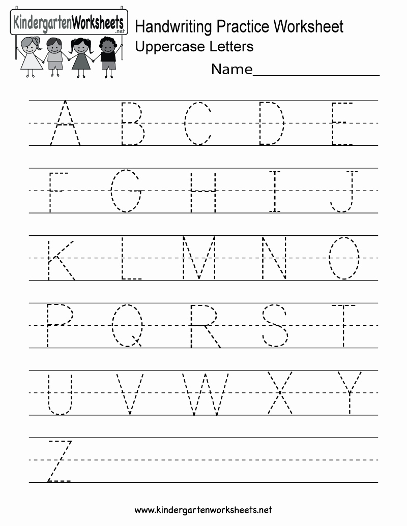 Practice Writing Paper for Kindergarten Beautiful Handwriting Practice Worksheet Free Kindergarten English