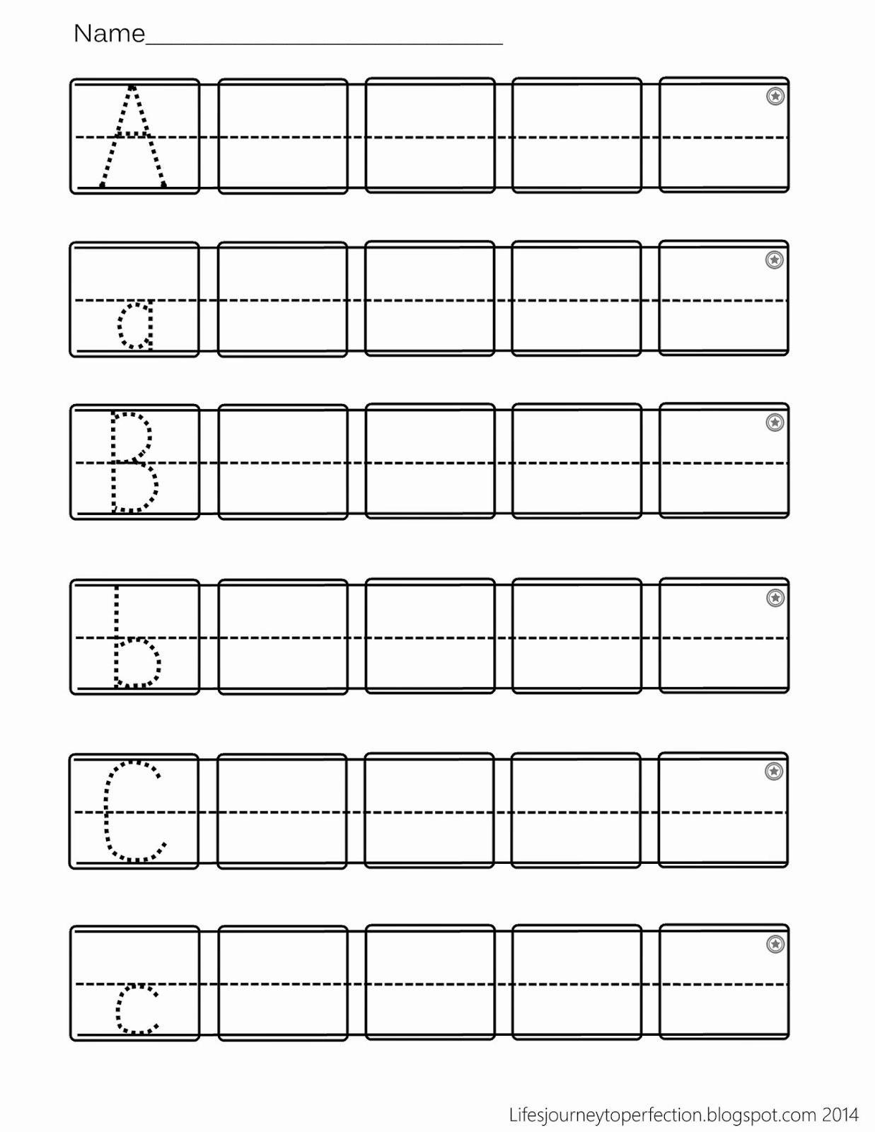 Practice Writing Paper for Kindergarten Best Of Preschool Practice Abc Writing Worksheet Printables