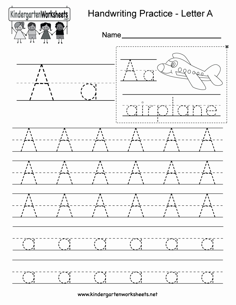 Practice Writing Paper for Kindergarten Elegant Letter A Writing Practice Worksheet Free Kindergarten