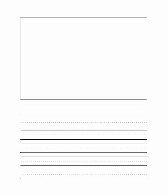 Practice Writing Paper for Kindergarten Fresh Kindergarten Handwriting Paper Printable Writing Paper