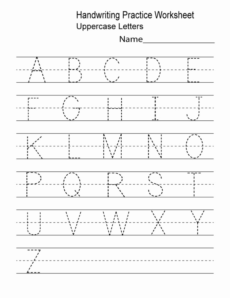 Practice Writing Paper for Kindergarten Fresh Printable Handwriting Practice Sheets for Preschool