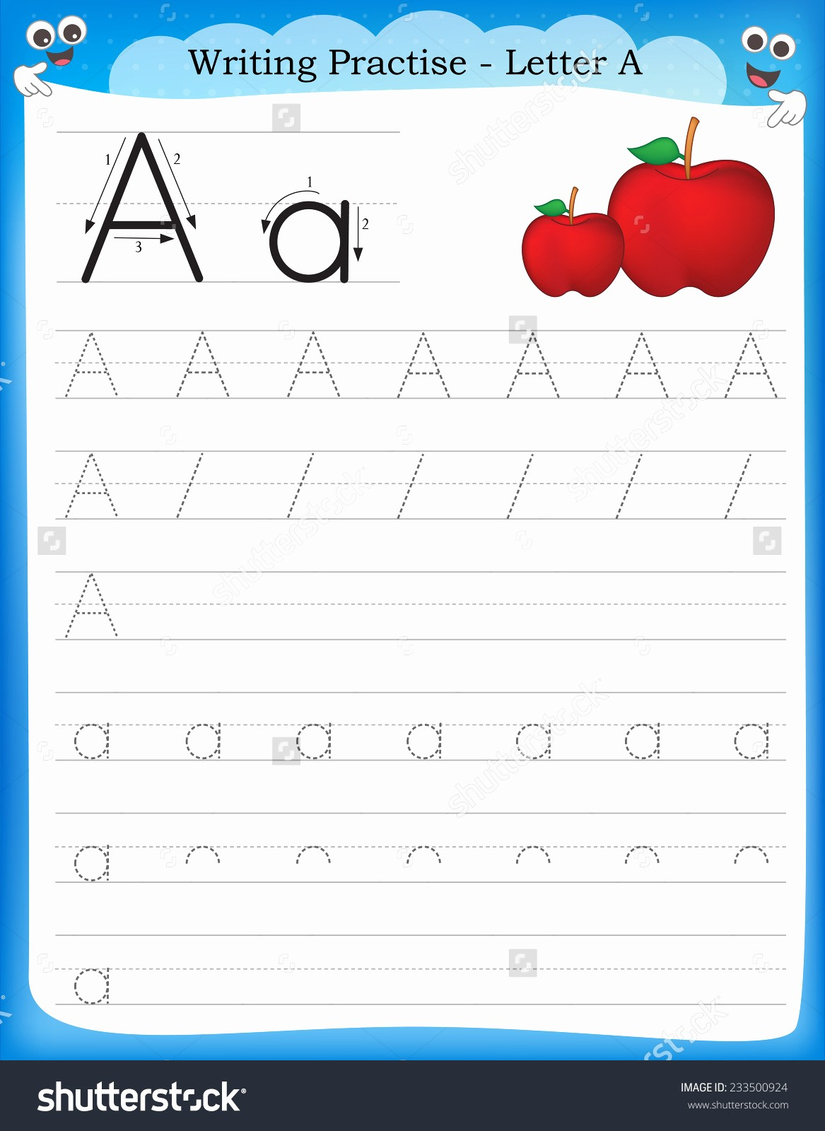 Practice Writing Paper for Kindergarten Lovely Kids Homework Sheets Chapter 1 Worksheet Mogenk Paper Works
