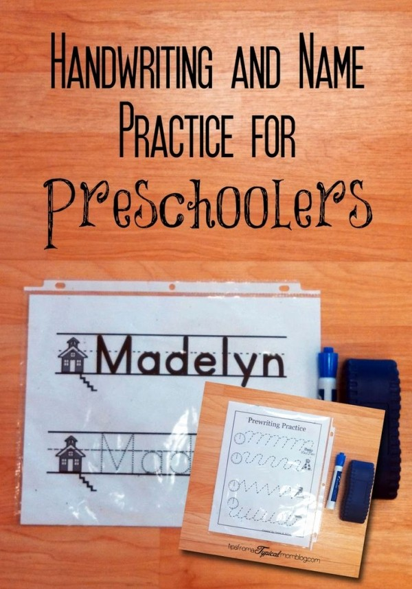 Practice Writing Paper for Kindergarten Lovely Name Practice and Handwriting Papers for Preschool Makes
