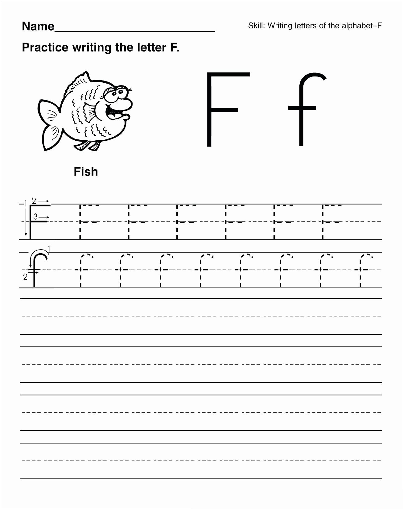 Practice Writing Paper for Kindergarten Luxury Kindergarten Practice Writing Paper Kids Writing Sheets