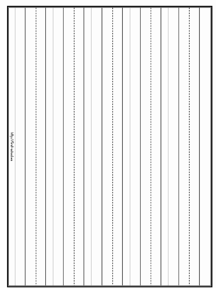 Practice Writing Paper for Kindergarten Unique Penmanship Practice Lines