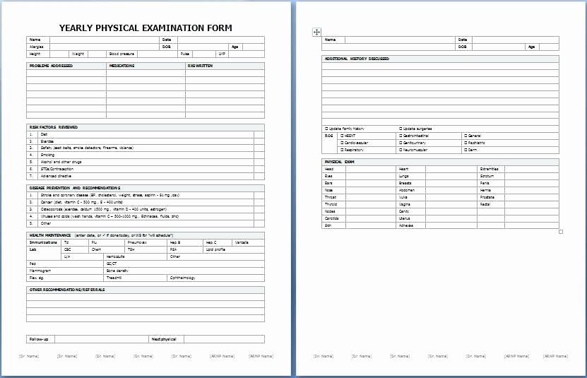 Pre Employment Physical form Template Fresh Medical assessment form Template Size Download 1
