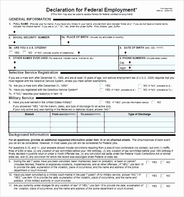 Pre Employment Physical form Template Fresh Pre Employment Physical form Template Employee Reference