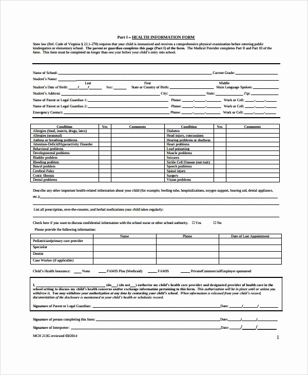 Pre Employment Physical form Template Unique 9 Sample Physical Exam forms – Pdf