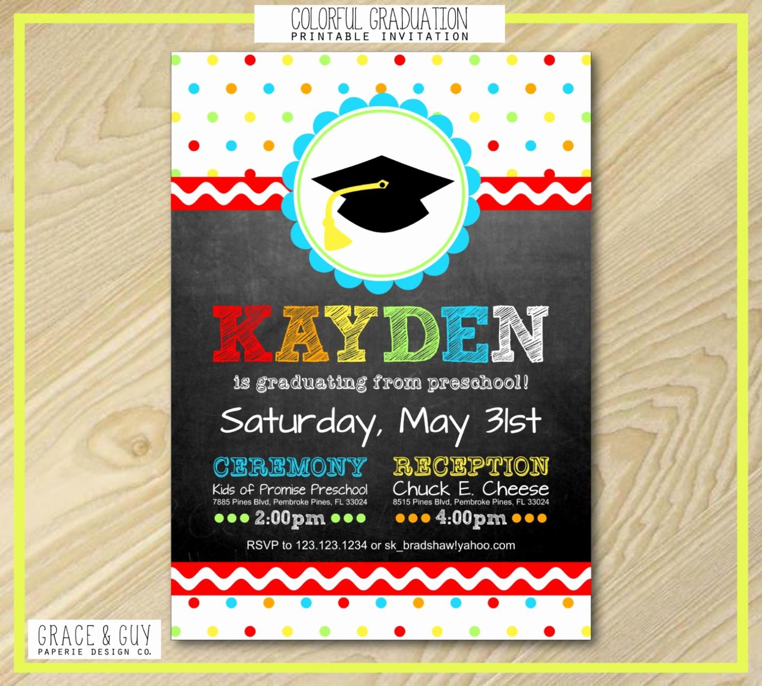 Pre K Graduation Invitations Templates Best Of Graduation Invitation Cards Kindergarten Graduation