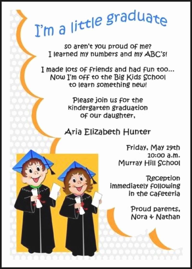 Pre K Graduation Invitations Templates Best Of Morning Memories Invitation for Kindergarten