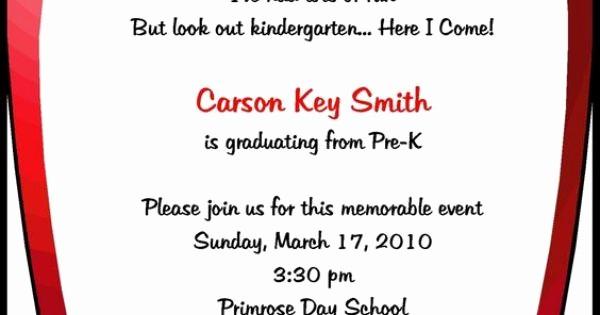 Pre K Graduation Invitations Templates Elegant Preschool Invitations Templates