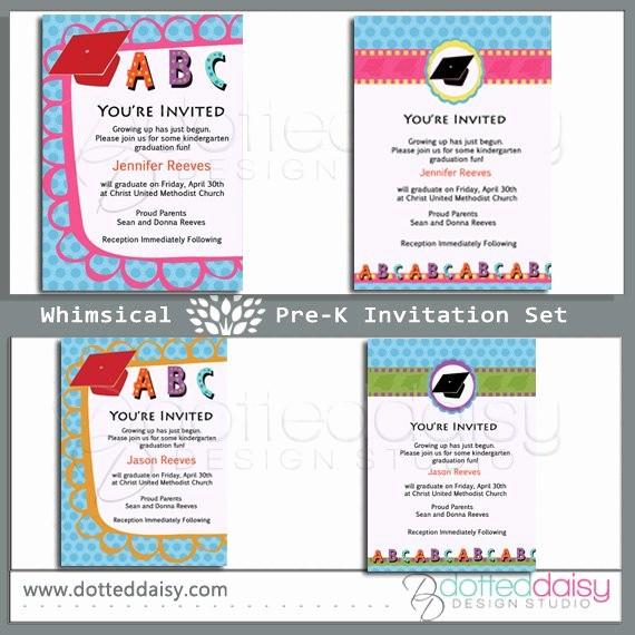 Pre K Graduation Invitations Templates Fresh Whimsical Pre K Graduation Invitation by somethingchicdesigns