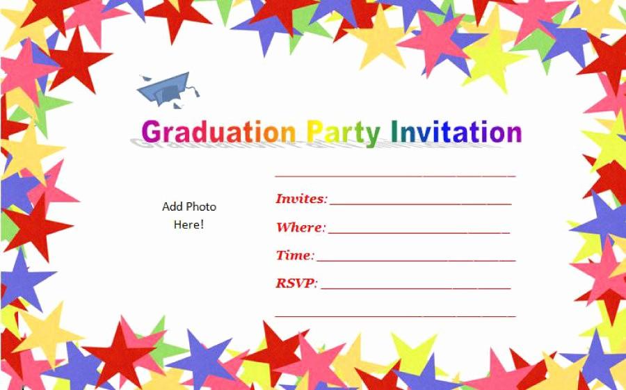 Pre K Graduation Invitations Templates Inspirational 40 Free Graduation Invitation Templates Template Lab