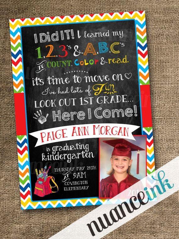 Pre K Graduation Invitations Templates Inspirational Custom Kindergarten Pre School Graduation Announcement