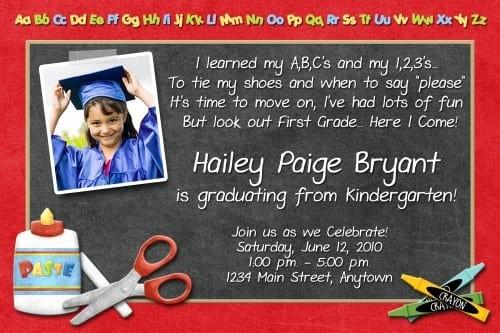 Pre K Graduation Invitations Templates Lovely Prekindergarten Graduation Invitation