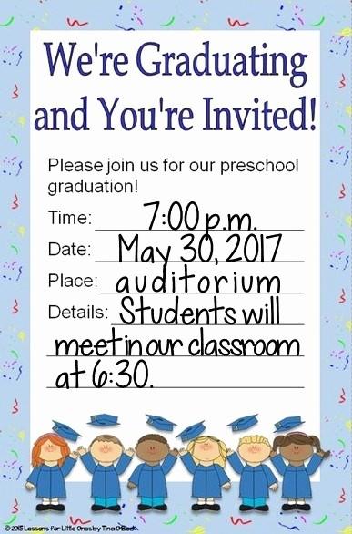 Pre K Graduation Invitations Templates Luxury Preschool Pre K Pre Kindergarten Diplomas Certificates