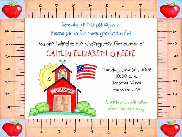 Pre K Graduation Invitations Templates New 53 Best Kindergarten Graduation Images On Pinterest