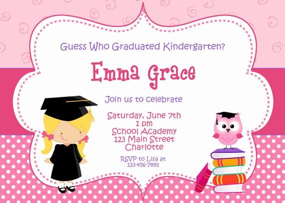 Pre K Graduation Invitations Templates New Graduación Graduación Invitación Graduación Preescolar Kinder