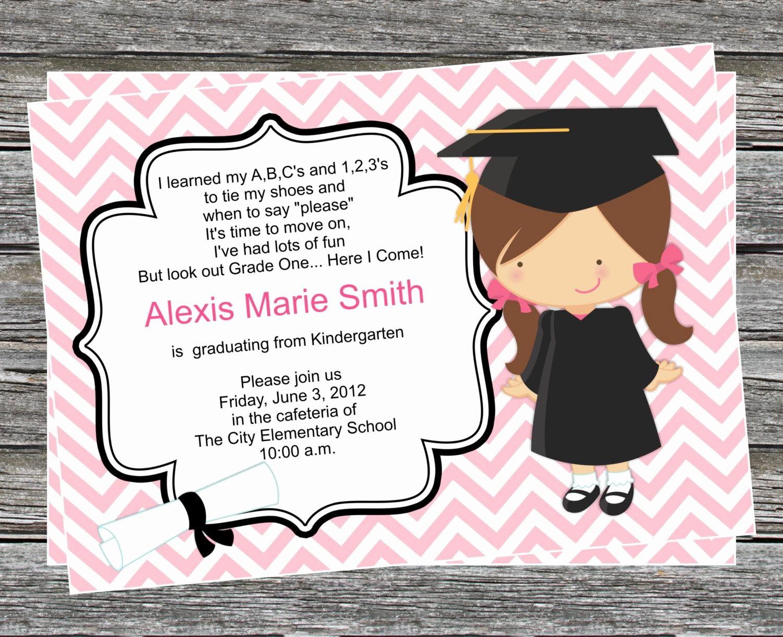Pre K Graduation Invitations Templates New Pre K or Kindergarten Graduation Invitation Boy and Girl