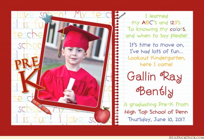 Pre K Graduation Invitations Templates New Prekindergarten Graduation Invitation – orderecigsjuicefo