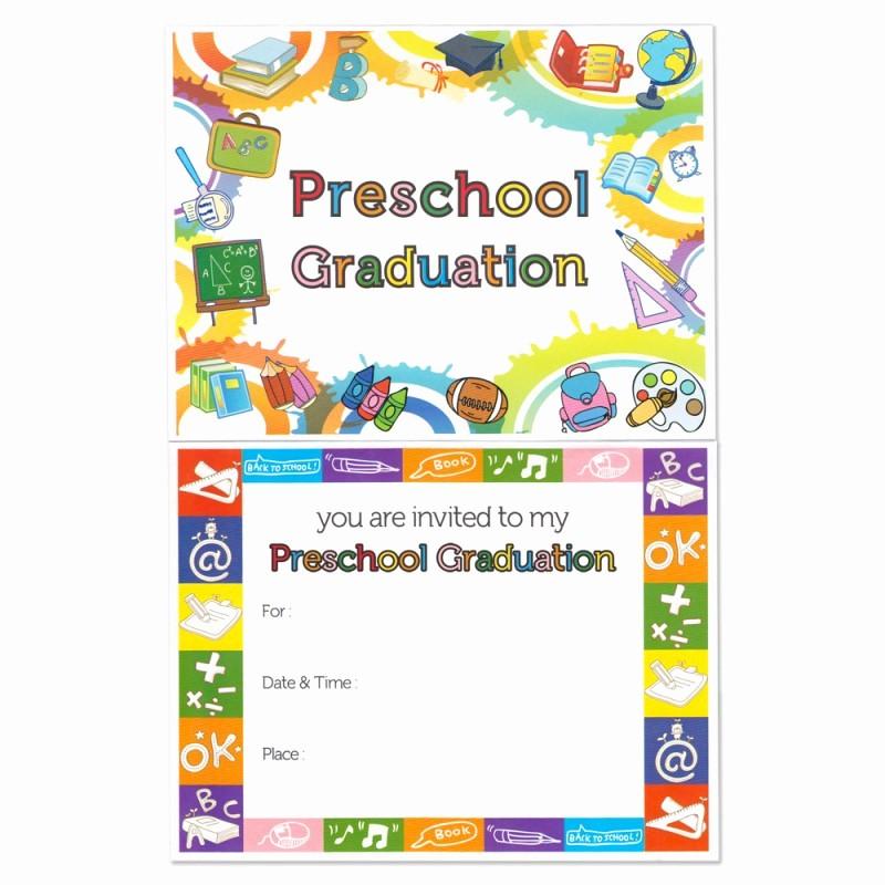 Pre K Graduation Invitations Templates New Preschool Graduation Announcement