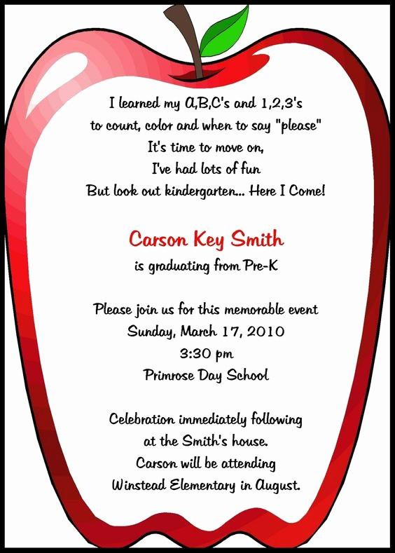 Pre K Graduation Invitations Templates New Preschool Invitations Templates