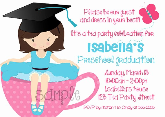 Pre K Graduation Invitations Templates Unique Kindergarten Graduation Party Invitations Yourweek