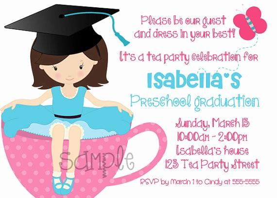 Pre K Graduation Invitations Templates Unique Kindergarten Graduation Party Invitations Yourweek