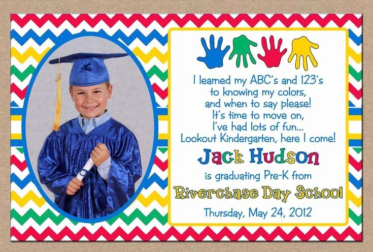 Pre K Graduation Invitations Templates Unique Special Cute Printable Graduation Invitation Design with