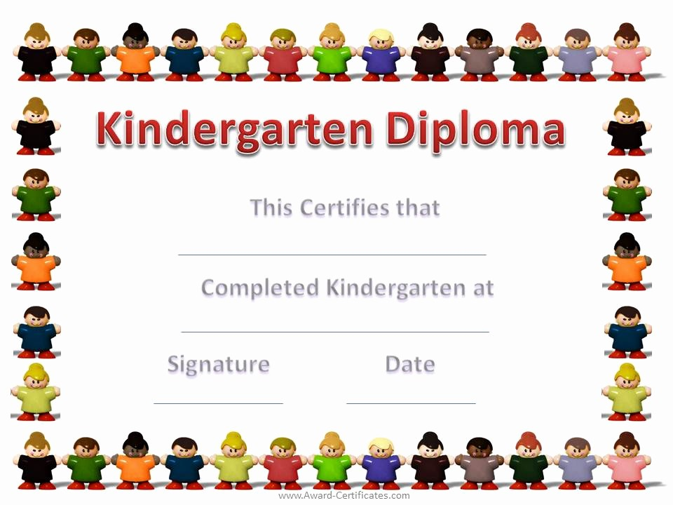 Preschool Diplomas Templates Printable Free Awesome 6 Best Of Free Printable Kindergarten Graduation