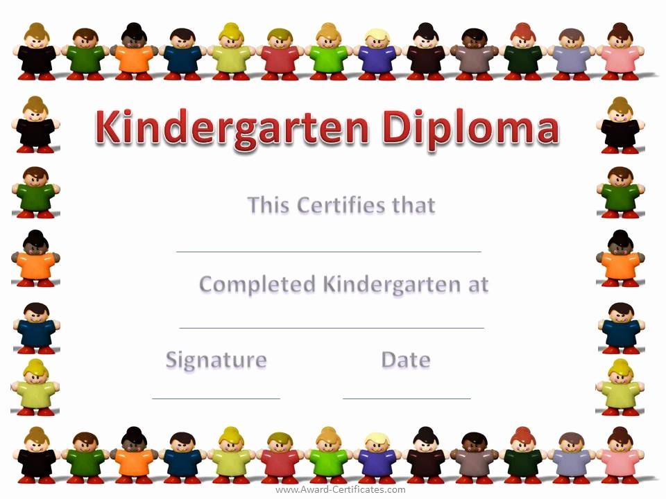 Preschool Diplomas Templates Printable Free Awesome 6 Best Of Free Printable Kindergarten Graduation