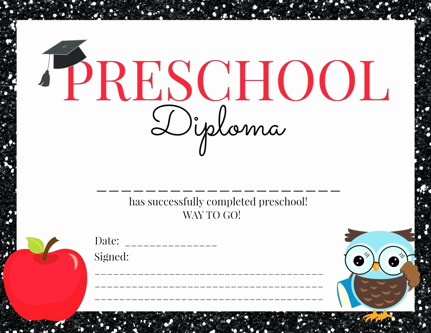 Preschool Diplomas Templates Printable Free Awesome Template Preschool Certificate Template Graduation for