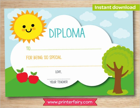Preschool Diplomas Templates Printable Free Beautiful Certificate Template 45 Free Printable Word Excel Pdf
