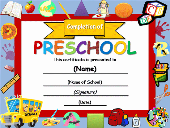 Preschool Diplomas Templates Printable Free Beautiful Free Certificate Templates
