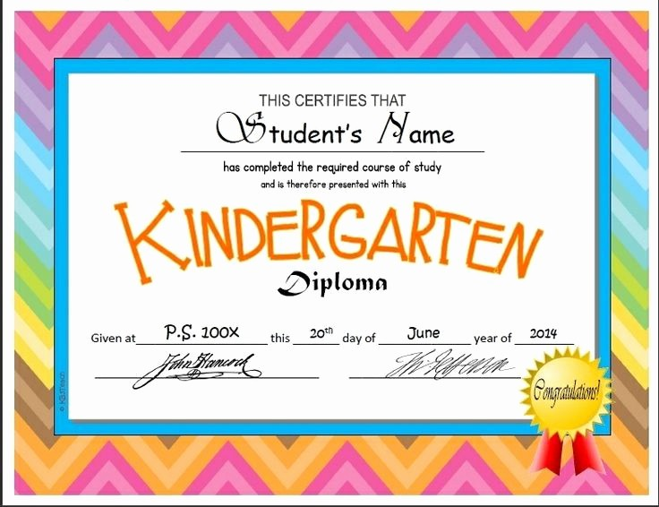 Preschool Diplomas Templates Printable Free Beautiful Kindergarten & Pre K Diplomas Editable