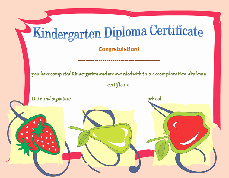 Preschool Diplomas Templates Printable Free Beautiful Kindergarten Diploma Certificates Printable Templates