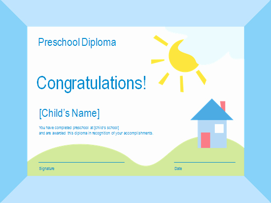 Preschool Diplomas Templates Printable Free Best Of Pin Ppt Template Kindergarten Diploma Certificate