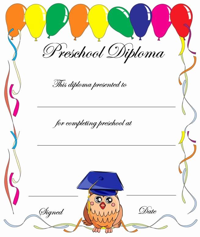 Preschool Diplomas Templates Printable Free Best Of Preschool Printable Graduation Invitation