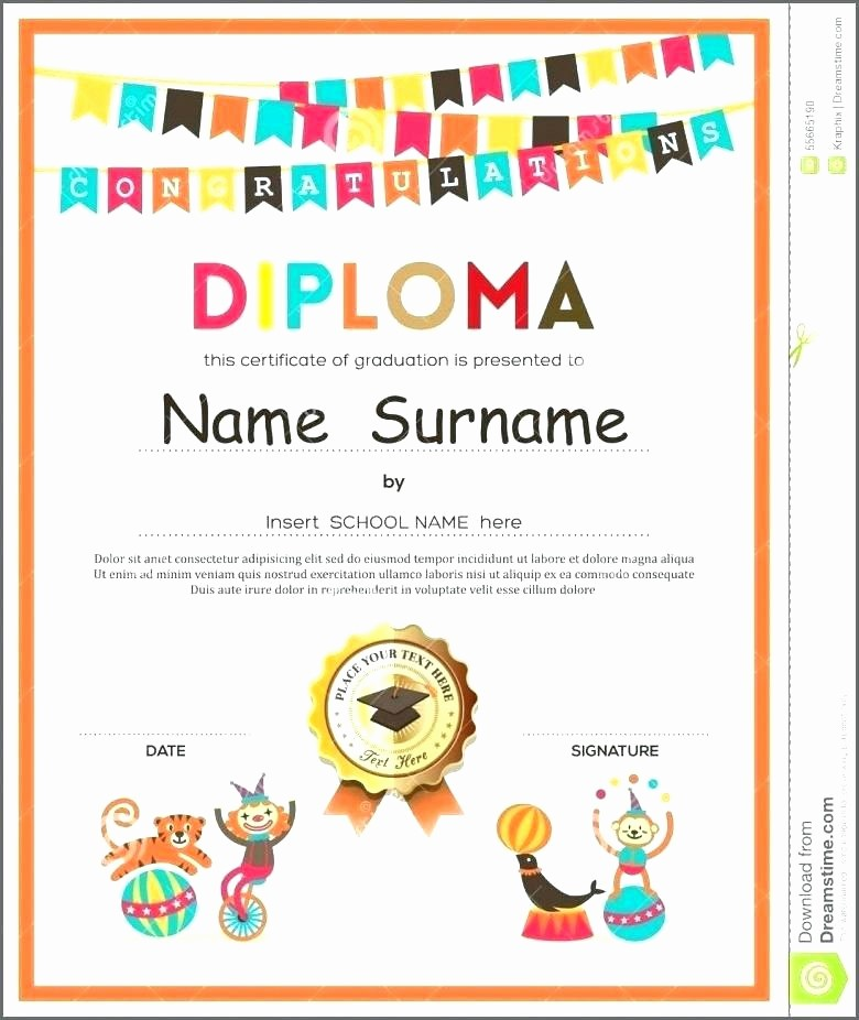 Preschool Diplomas Templates Printable Free Inspirational Preschool Diploma Template Preschool Diploma Template Free