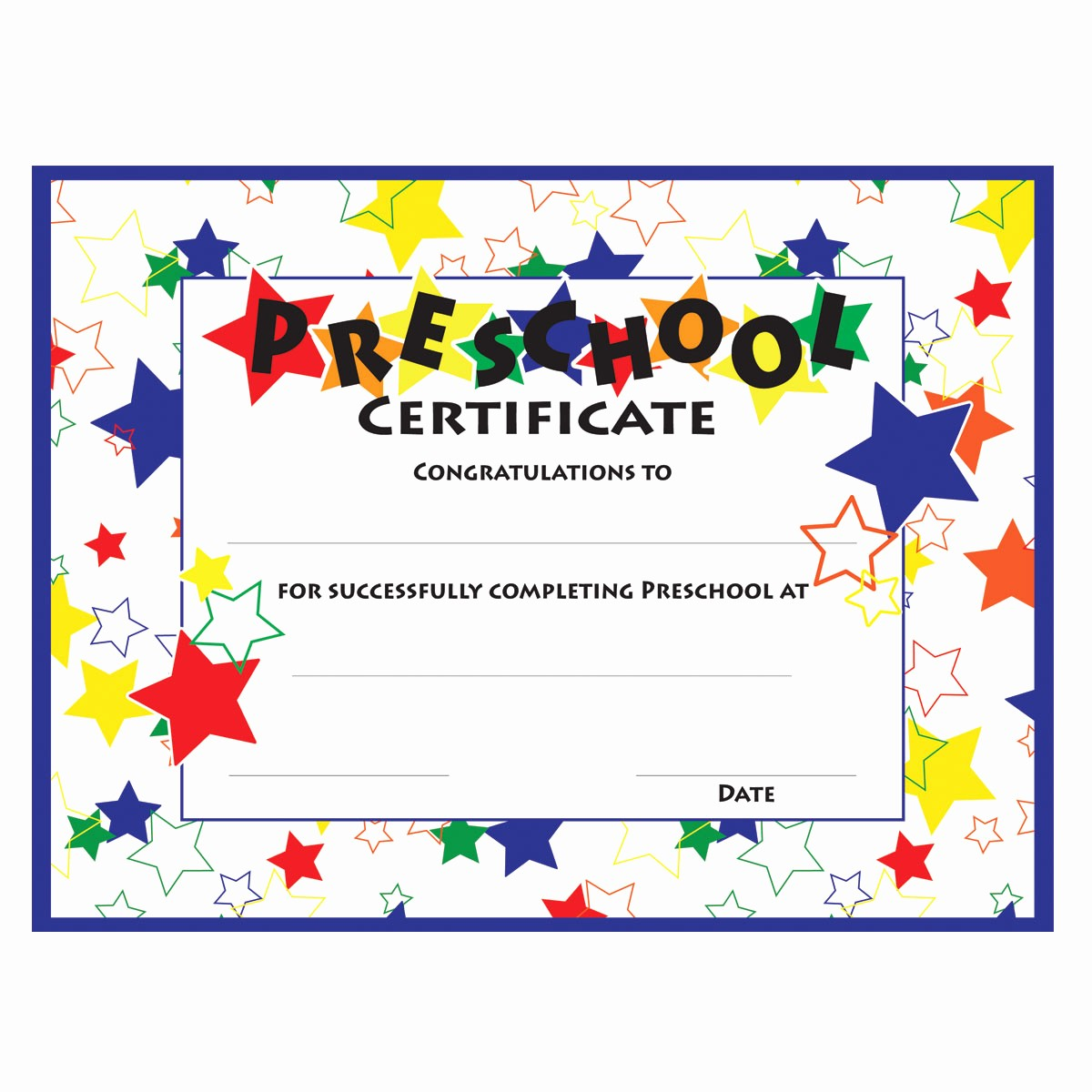 Preschool Diplomas Templates Printable Free Lovely 11 Preschool Certificate Templates Pdf